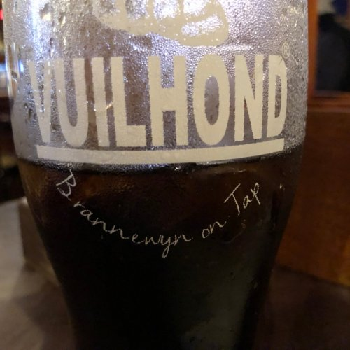 Specialty drink at the Franschhoek Station pub