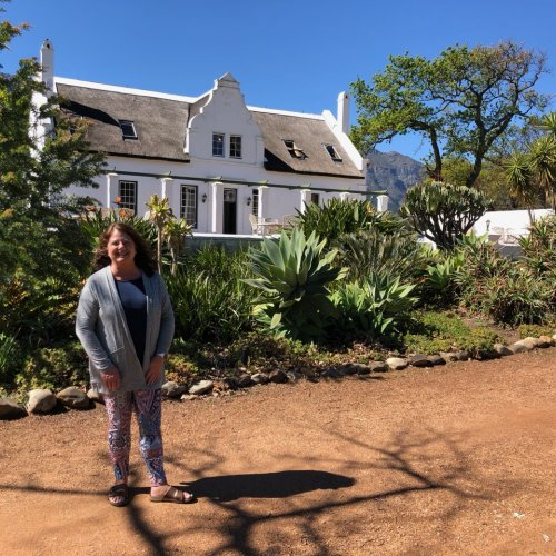 The Manor House at Rickety Bridge Winery in Franschhoek.  Beautiful Garden in the backyard.